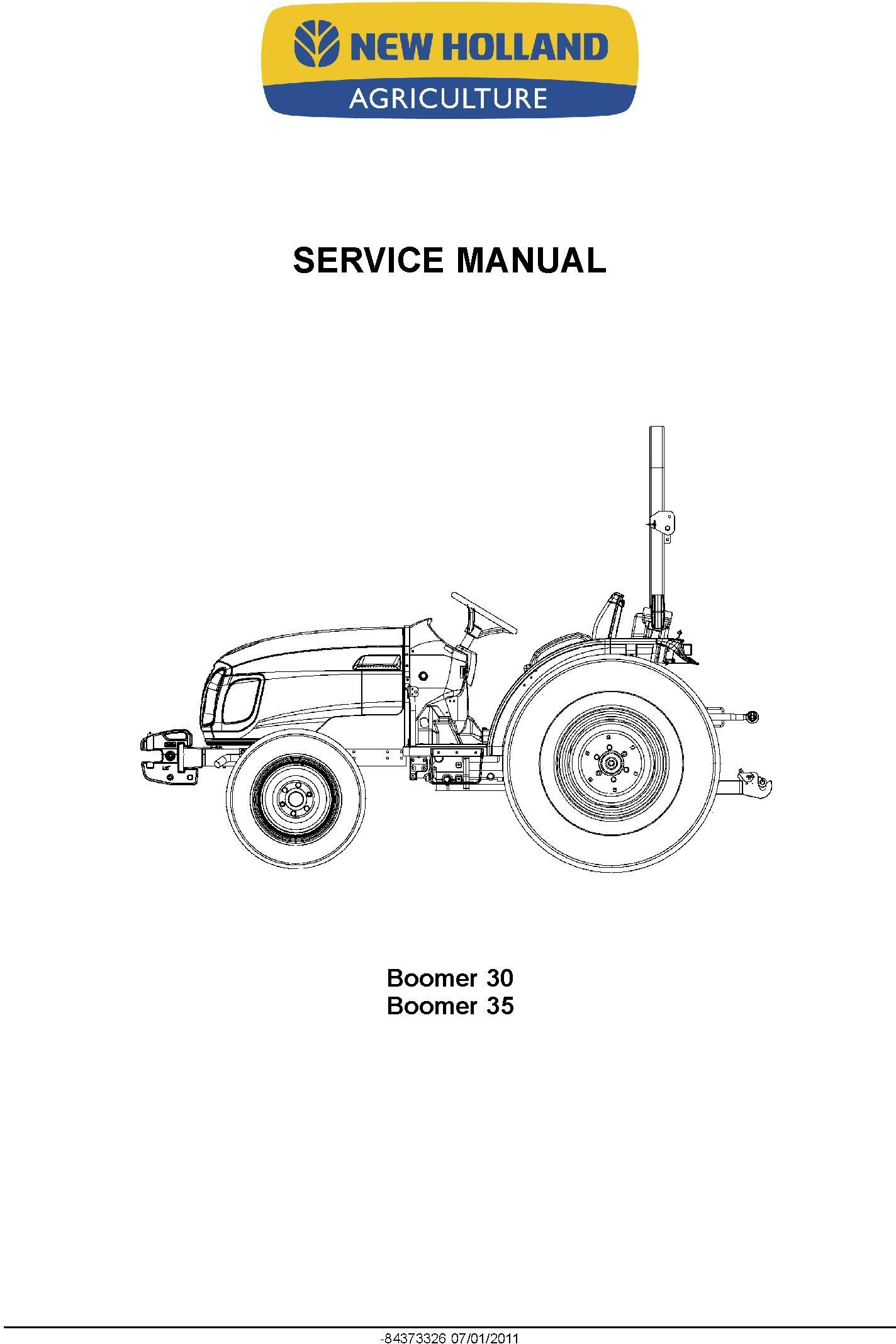 New Holland Boomer 30, Boomer 35 Compact Tractor Service Manual - 1