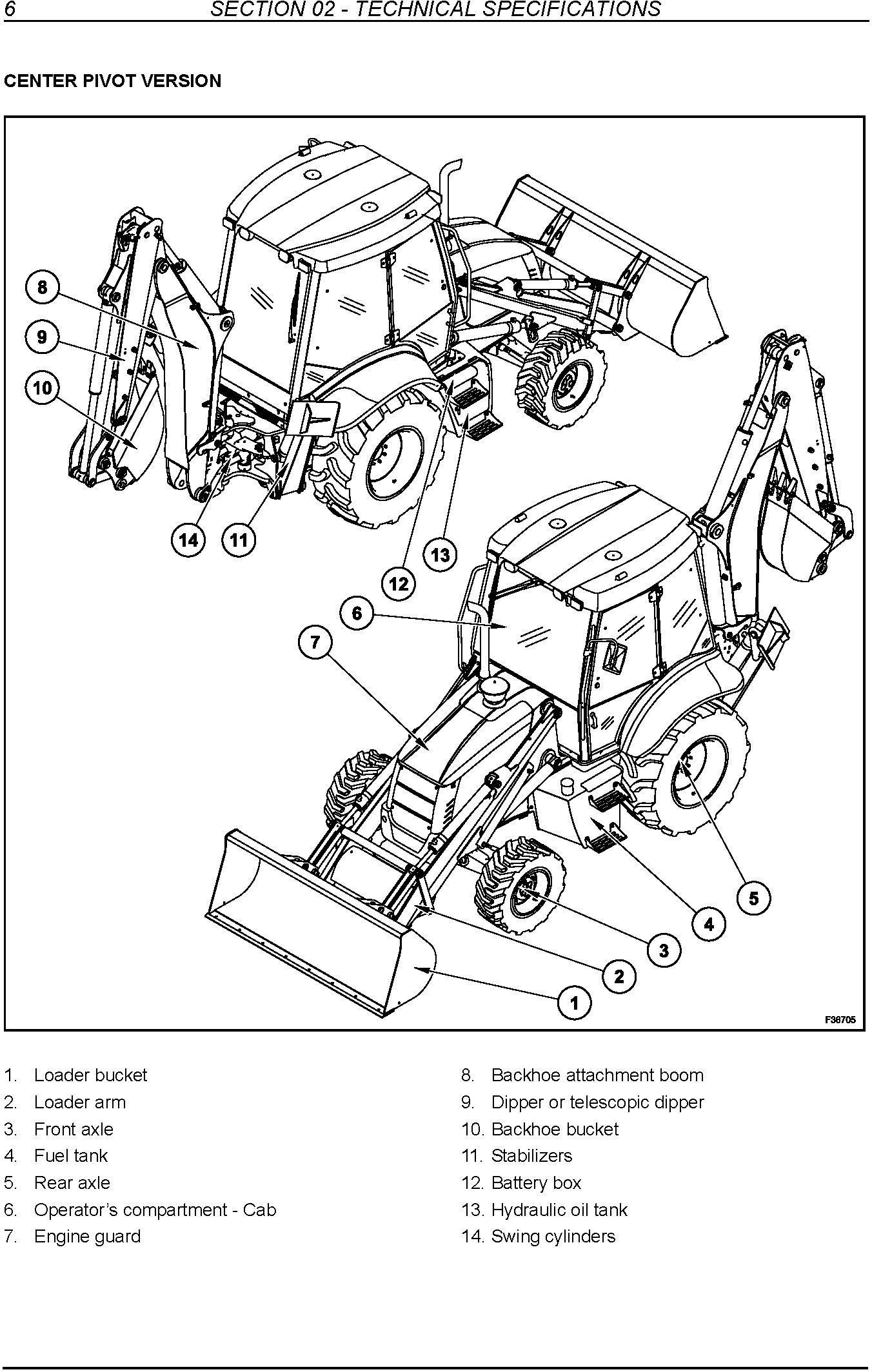 New Holland B90B /BLR, B100B /BLR, B100BTC, B110B /BTC, B115B Tier 3 Backhoe Loaders Service Manual - 1