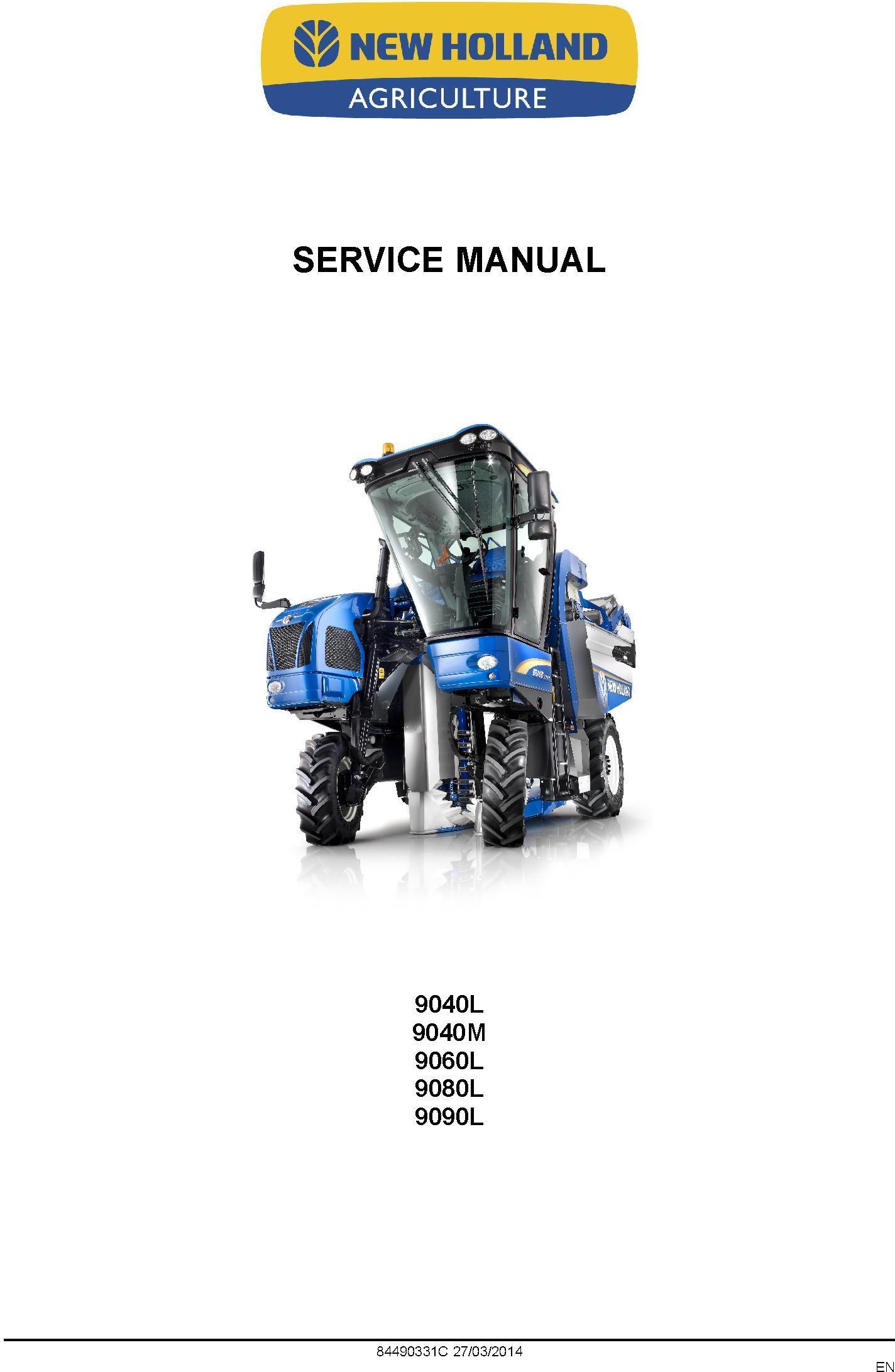 New Holland 9040L, 9040M, 9060L (H), 9080L (H), 9090L (H,GE) Grape Harvester Service Manual - 1