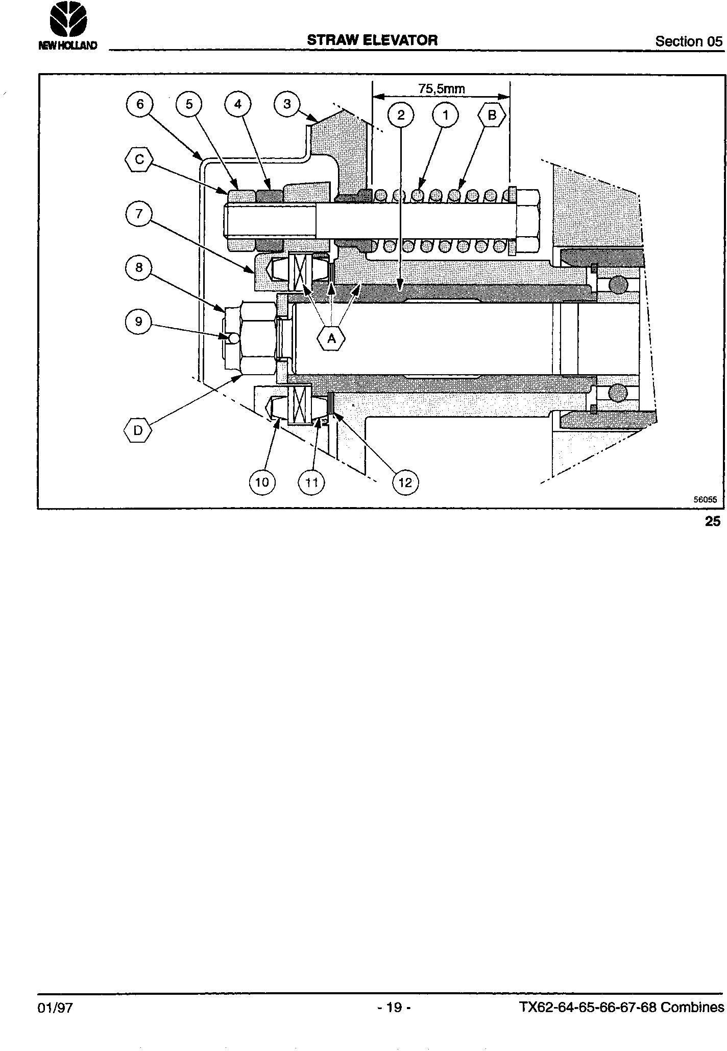 New Holland TX66, TX68 Combine Service Manual - 3