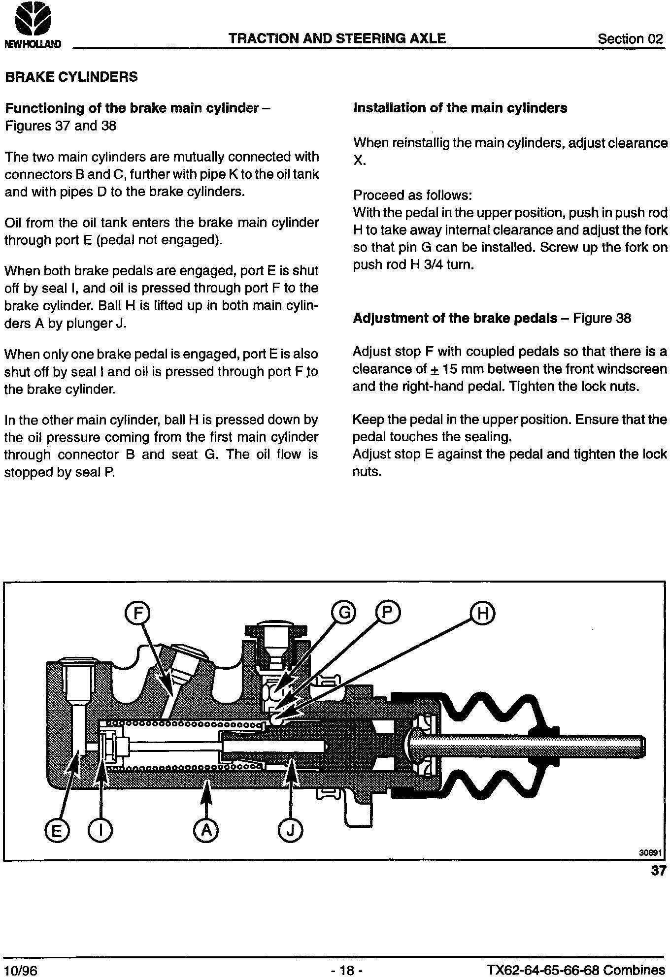New Holland TX66, TX68 Combine Service Manual - 2