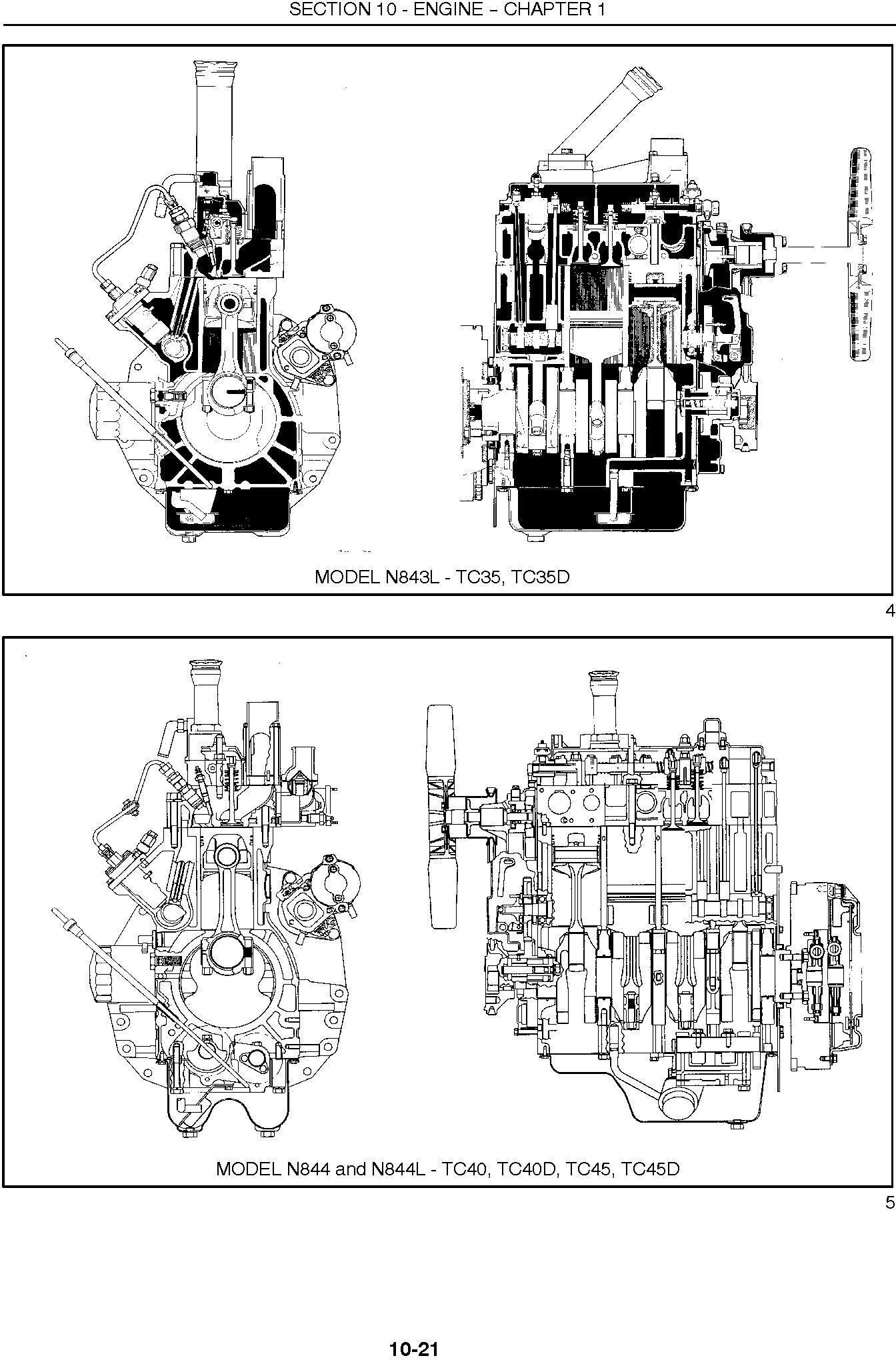 New Holland TC35, TC35D, TC40, TC40D, TC45, TC45D Tractor Complete Service Manual - 1