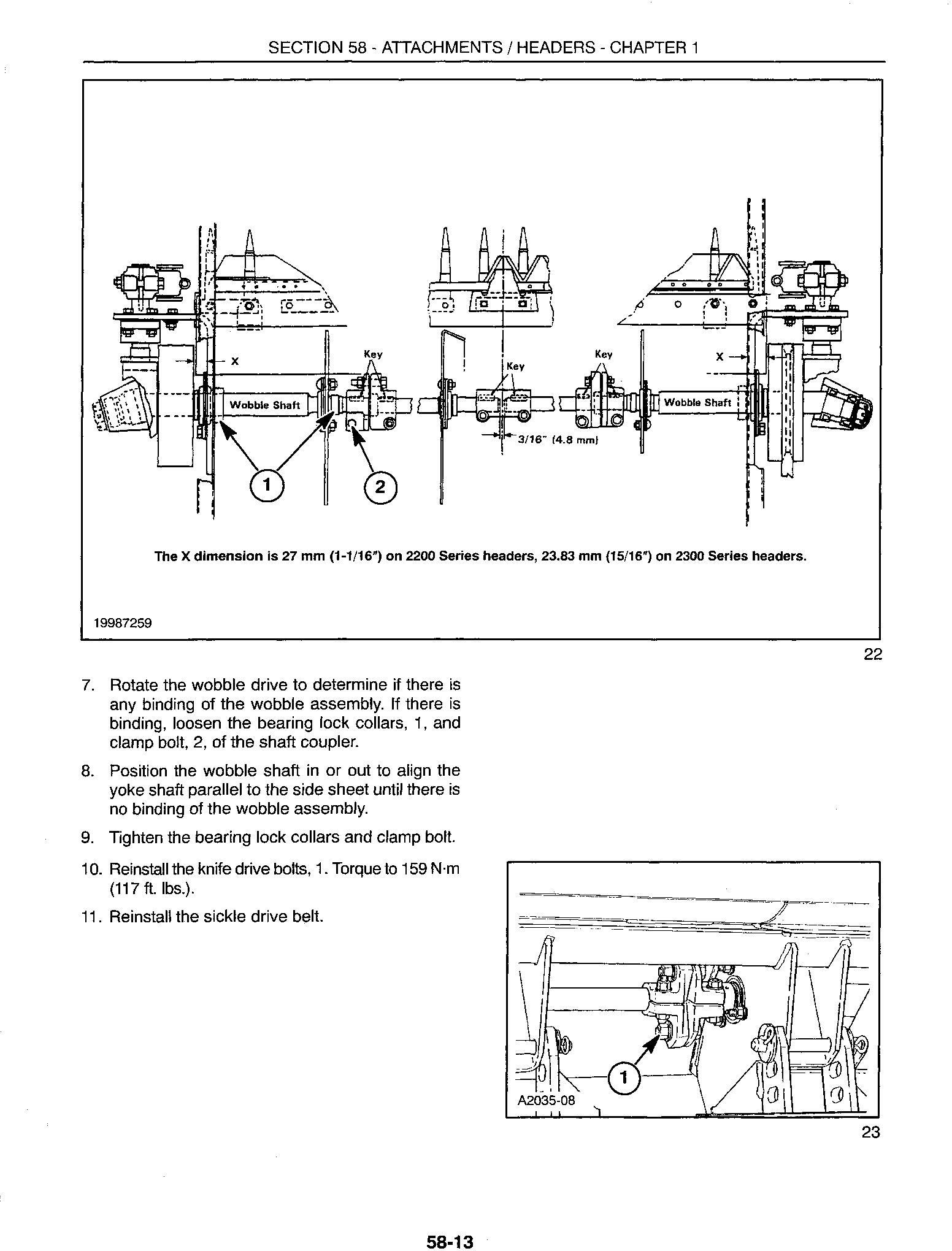New Holland 2212, 2214, 2216, 2218, 2322, 2324, 2326, 2328 Swather Heads Service Manual - 2