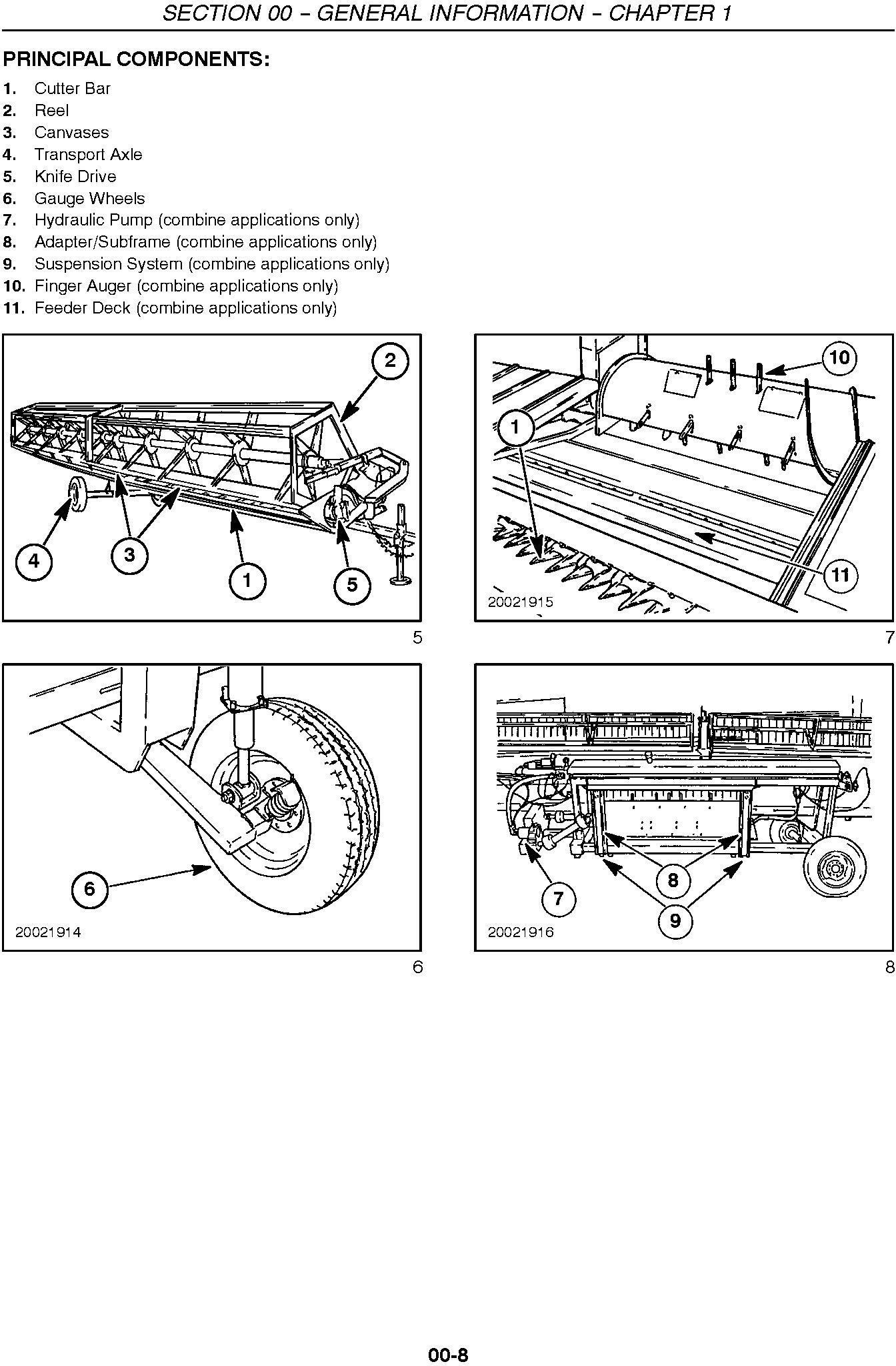 New Holland 994, 92c, 94c Grain Belt Headers Service Manual - 2