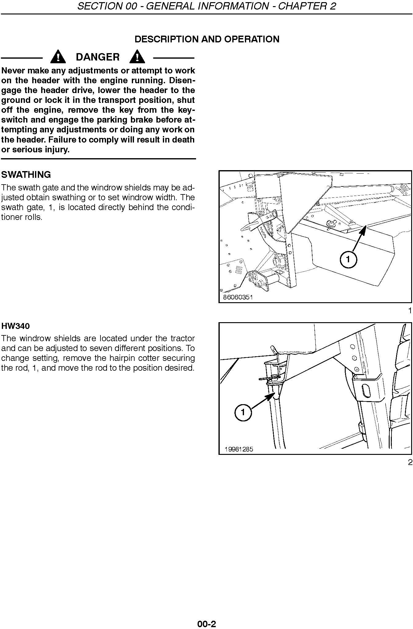 New Holland 2353 Discbine Disc Header Service Manual - 1