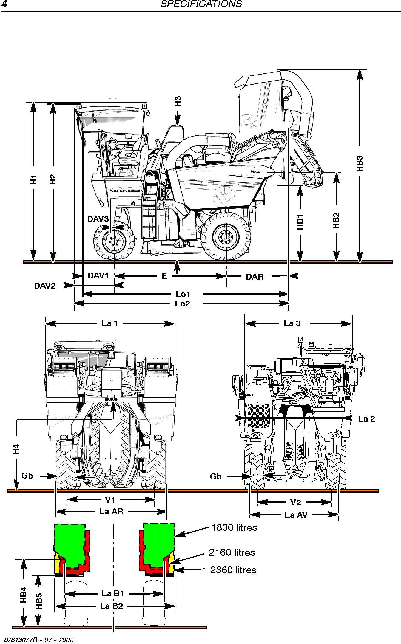 New Holland VL5060, VL5070, VL5080, VM3080 Grape Harvester Service Manual - 1