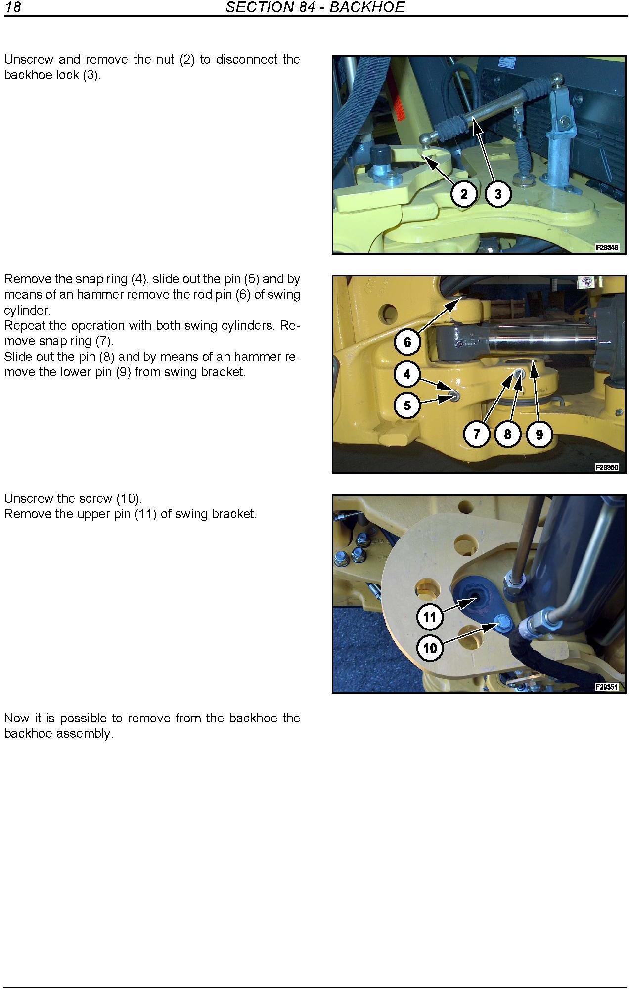 New Holland B110, B115 Tier 3 Loader Backhoe Service Manual - 2