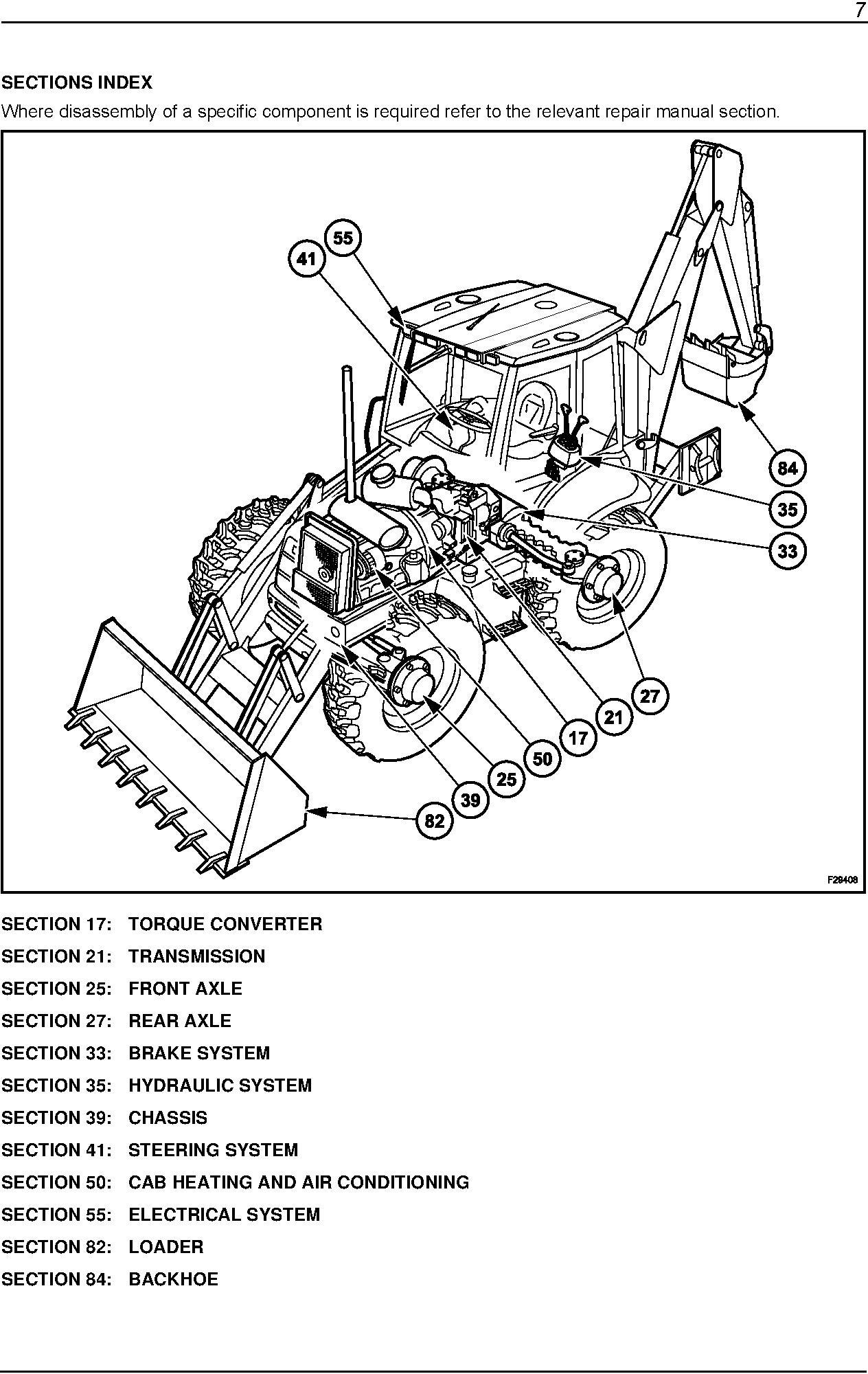 New Holland B110, B115 Tier 3 Loader Backhoe Service Manual - 1
