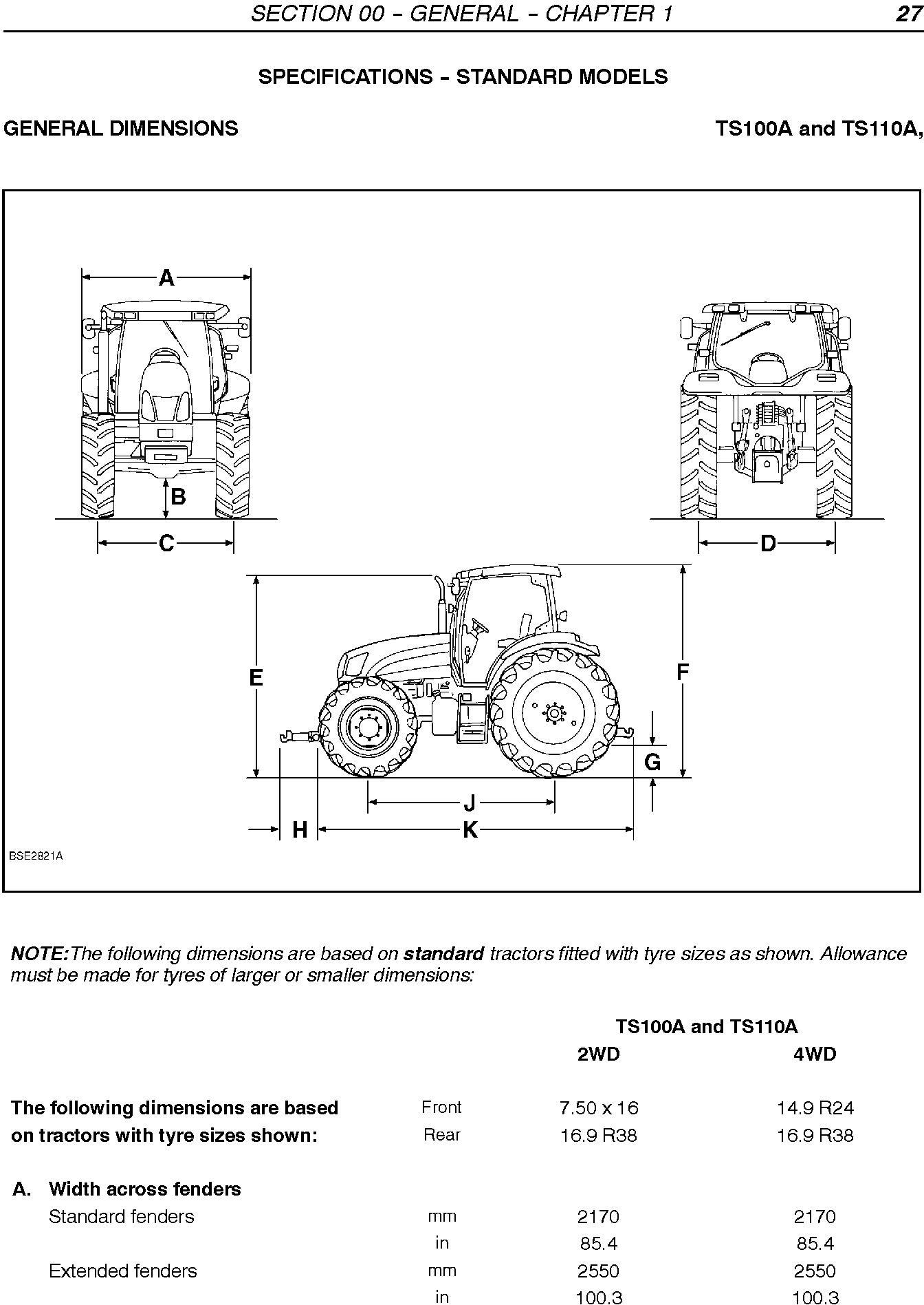 New Holland TS100A, TS110A, TS115A, TS125A, TS130A, TS135A, T6010, T6020, T6030,T6050 Service Manual - 1