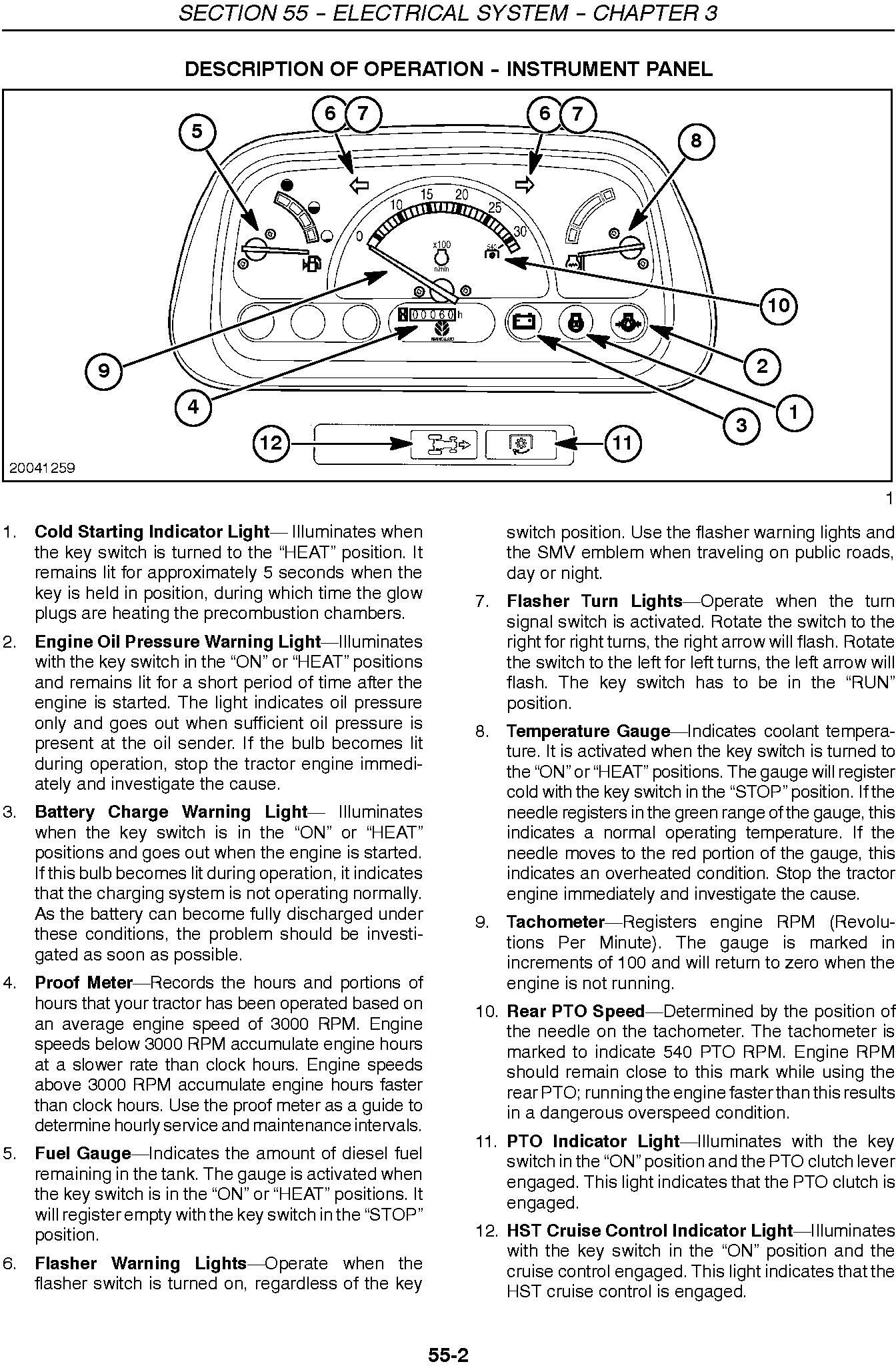 New Holland T1010, T1030, T1110 Tractor Service Manual - 3