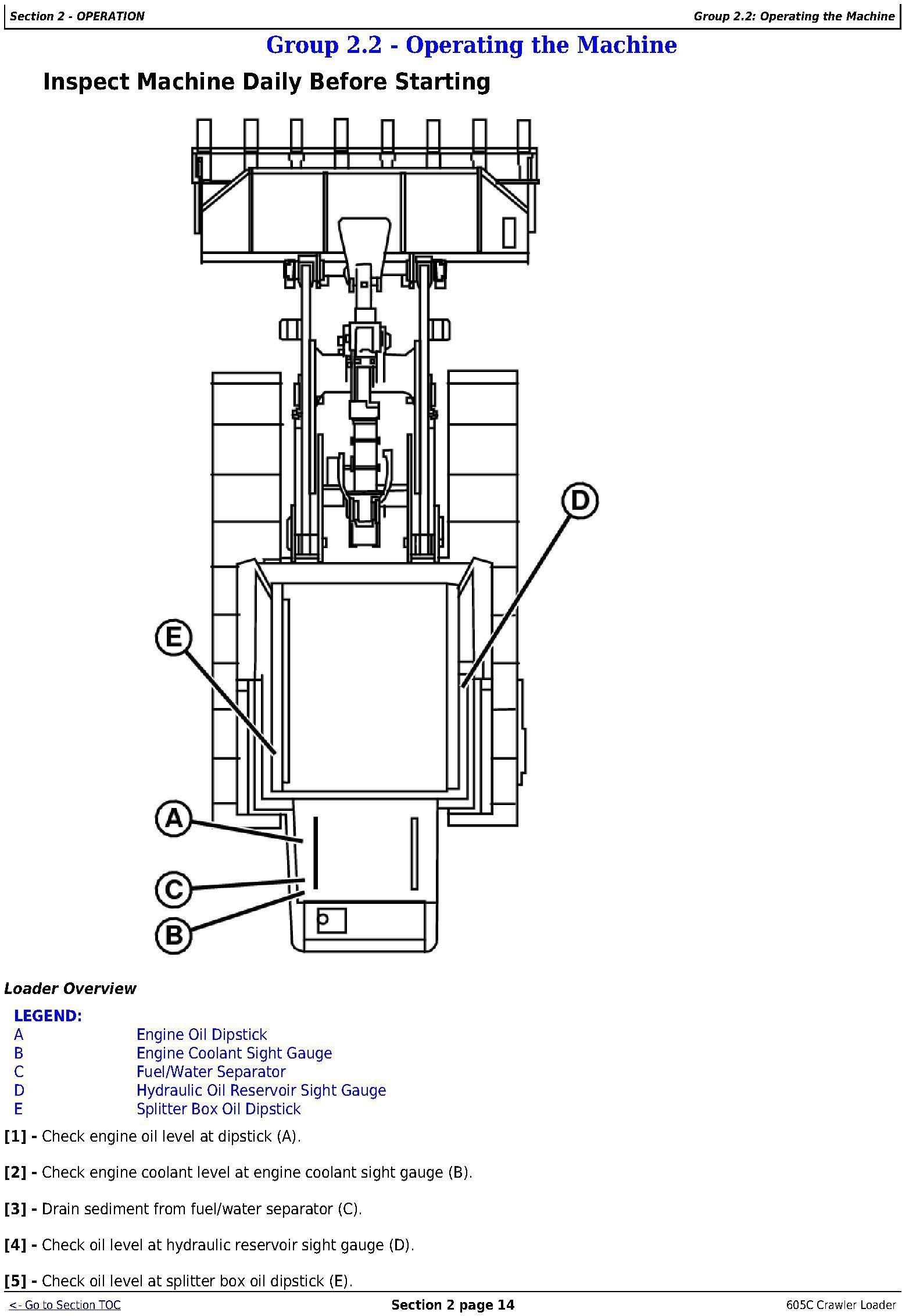 OMT217598 - John Deere 605C Crawler Loader Operators Manual - 3