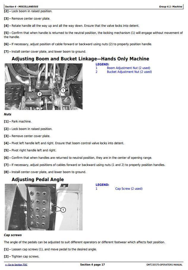 OMT235575 - John Deere 313, 315 Skeed Steer Loader, CT315 Compact Track Loader Operator's Manual - 2