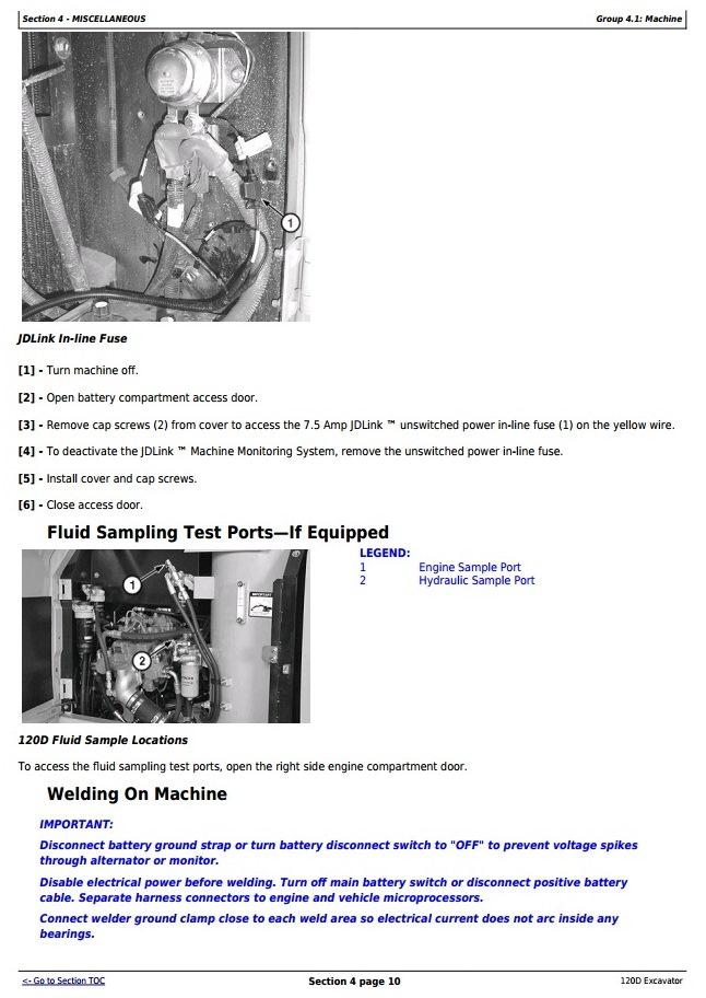 OMT237811 - John Deere 120D Crawler Excavator Operator's Manual - 2