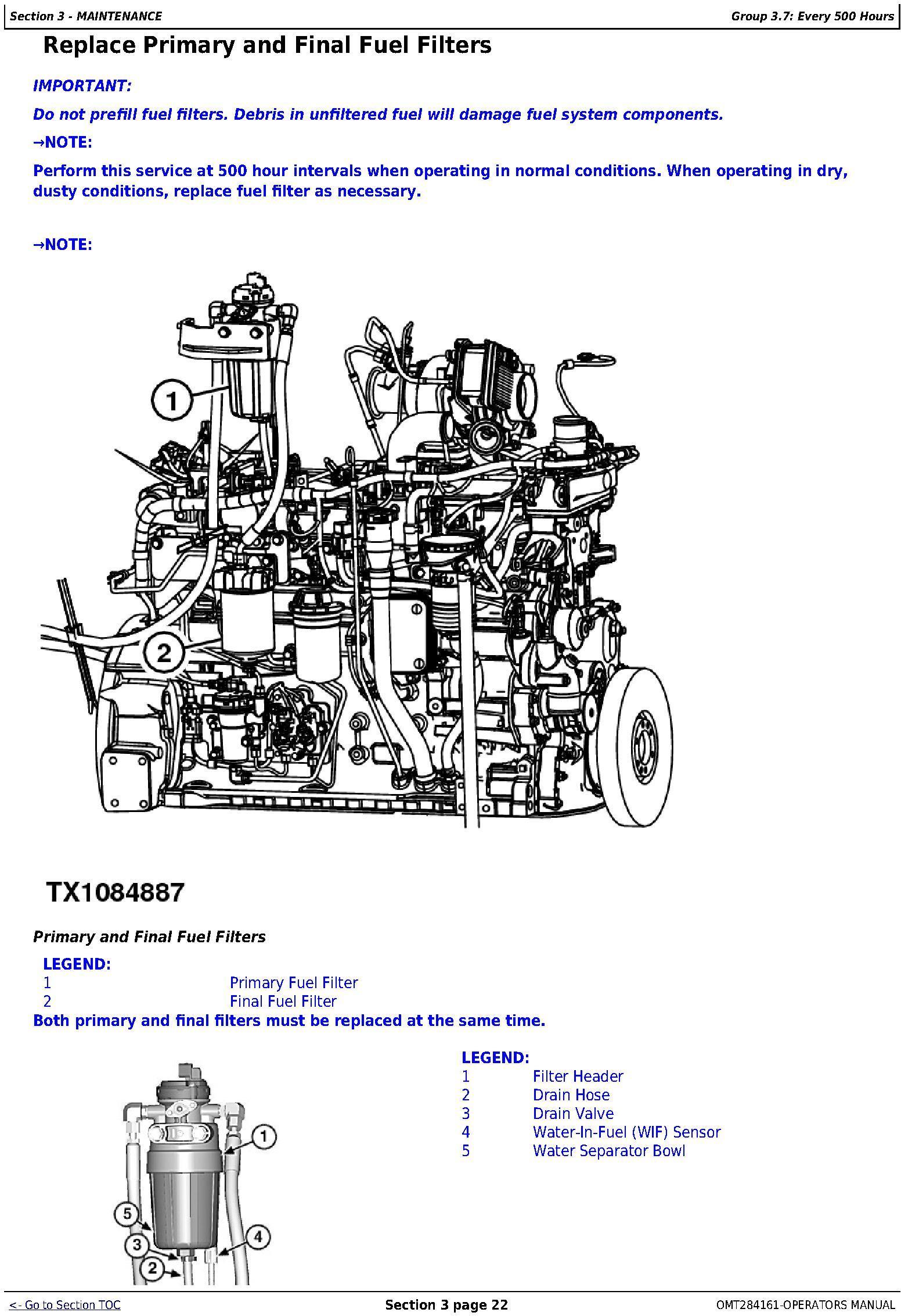 OMT284161 - John Deere 850K Crawler Dozer (PIN: 1T0850KX_ _E178122-271265 ) Operators Manual - 3