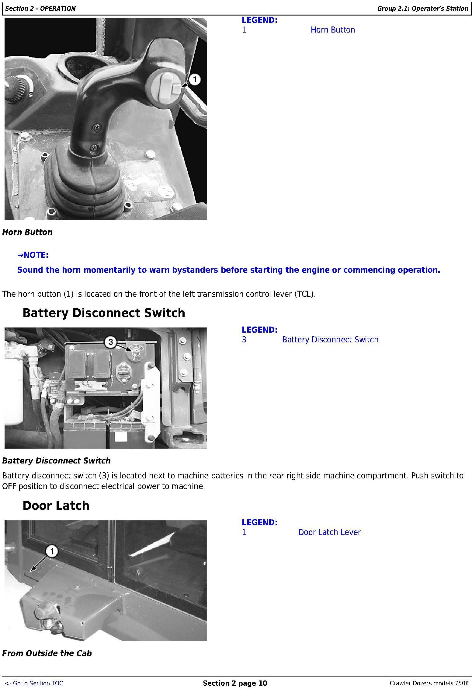 OMT298956 - John Deere 750K Crawler Dozer (PIN: 1T0750KX_ _E216966-) Operators Manual - 2