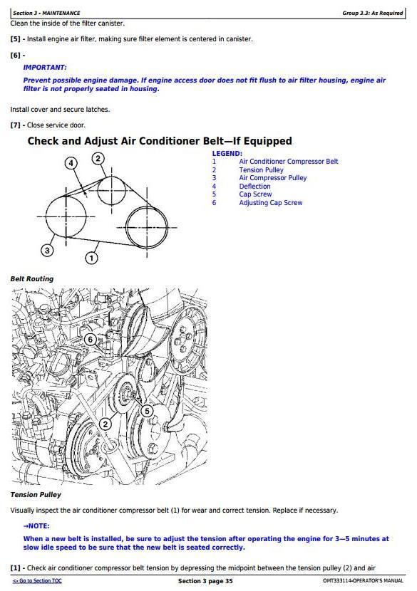 OMT333114 - John Deere 50G Compact Excavator w.FT4 engine (SN.H280001-) Operate & Maintenance Manual - 2
