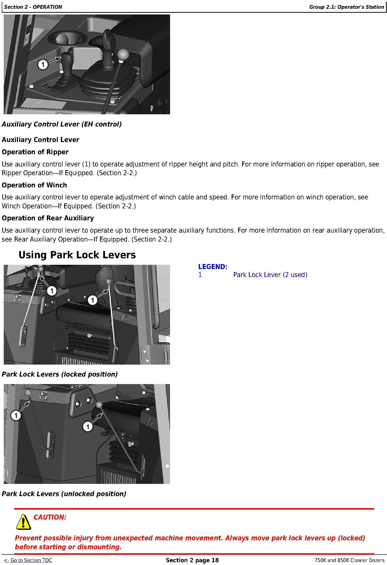 OMT355293X19 - John Deere 750K (SN. F271593-), 850K (SN. F271510-) Crawler Dozers Operator's Manual - 2