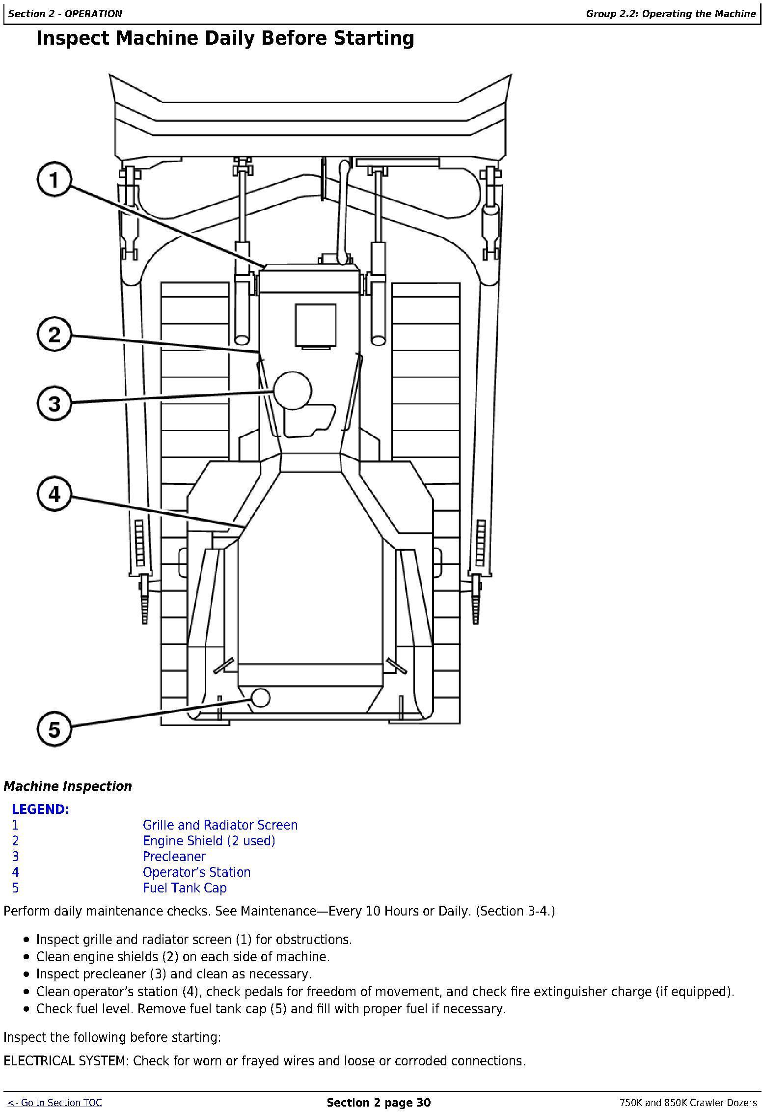 OMT355293X19 - John Deere 750K (SN. F271593-), 850K (SN. F271510-) Crawler Dozers Operator's Manual - 3