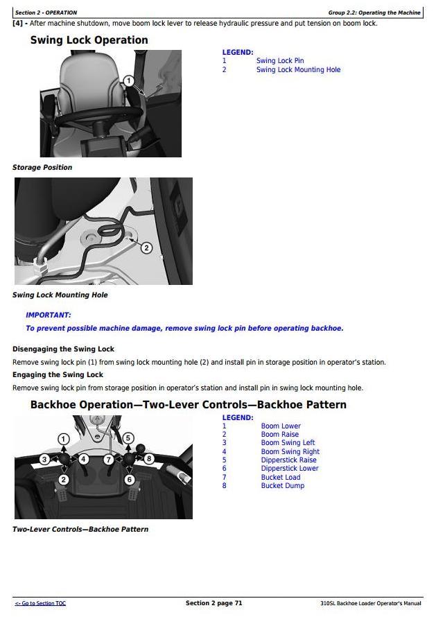 OMT357554X19 - John Deere 310SL Backhoe Loader Operator's Manual - 2
