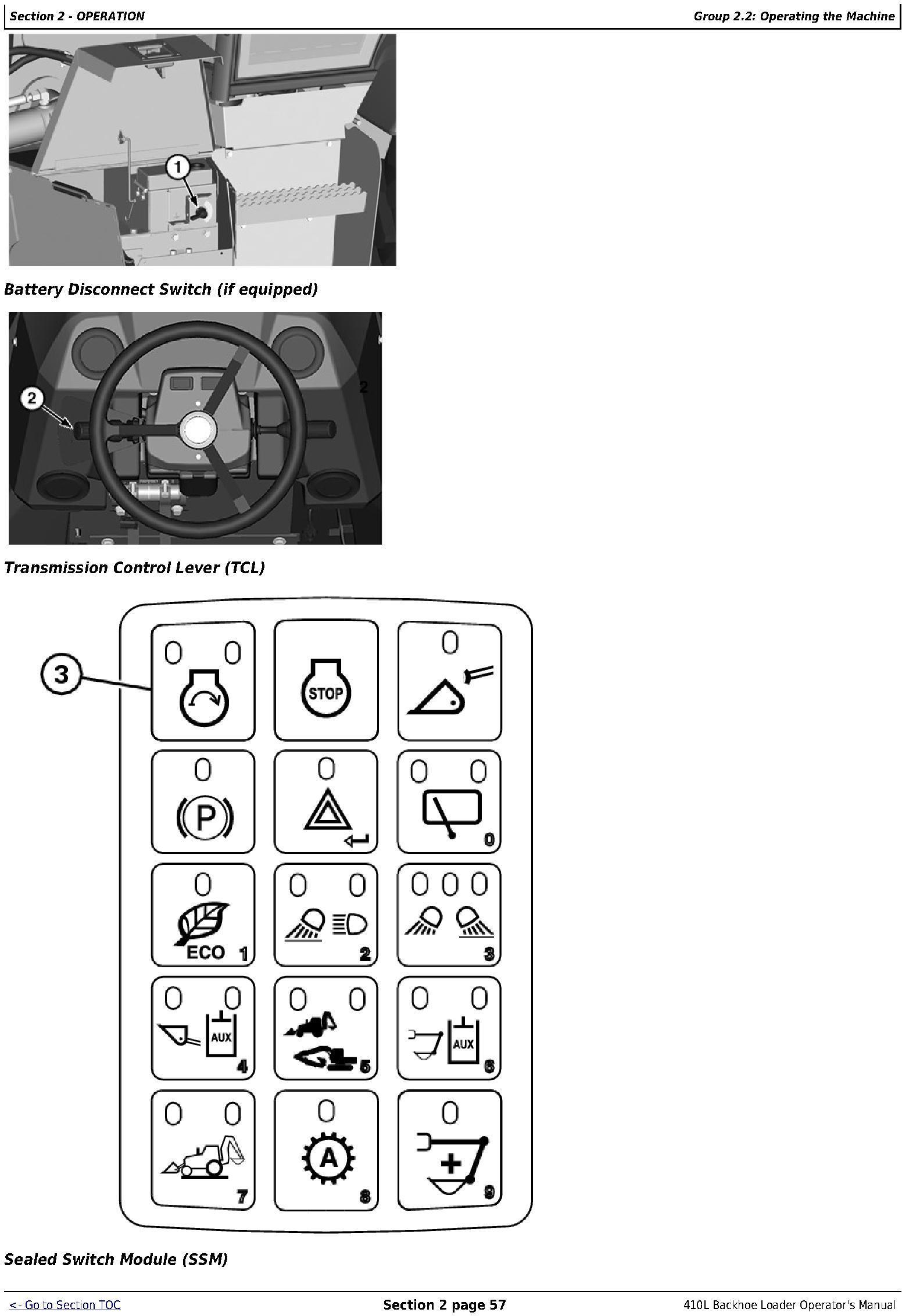 OMT357556X19 - JD John Deere 410L Backhoe Loader Operators Manual (sn. C273920-; D273920-) - 2