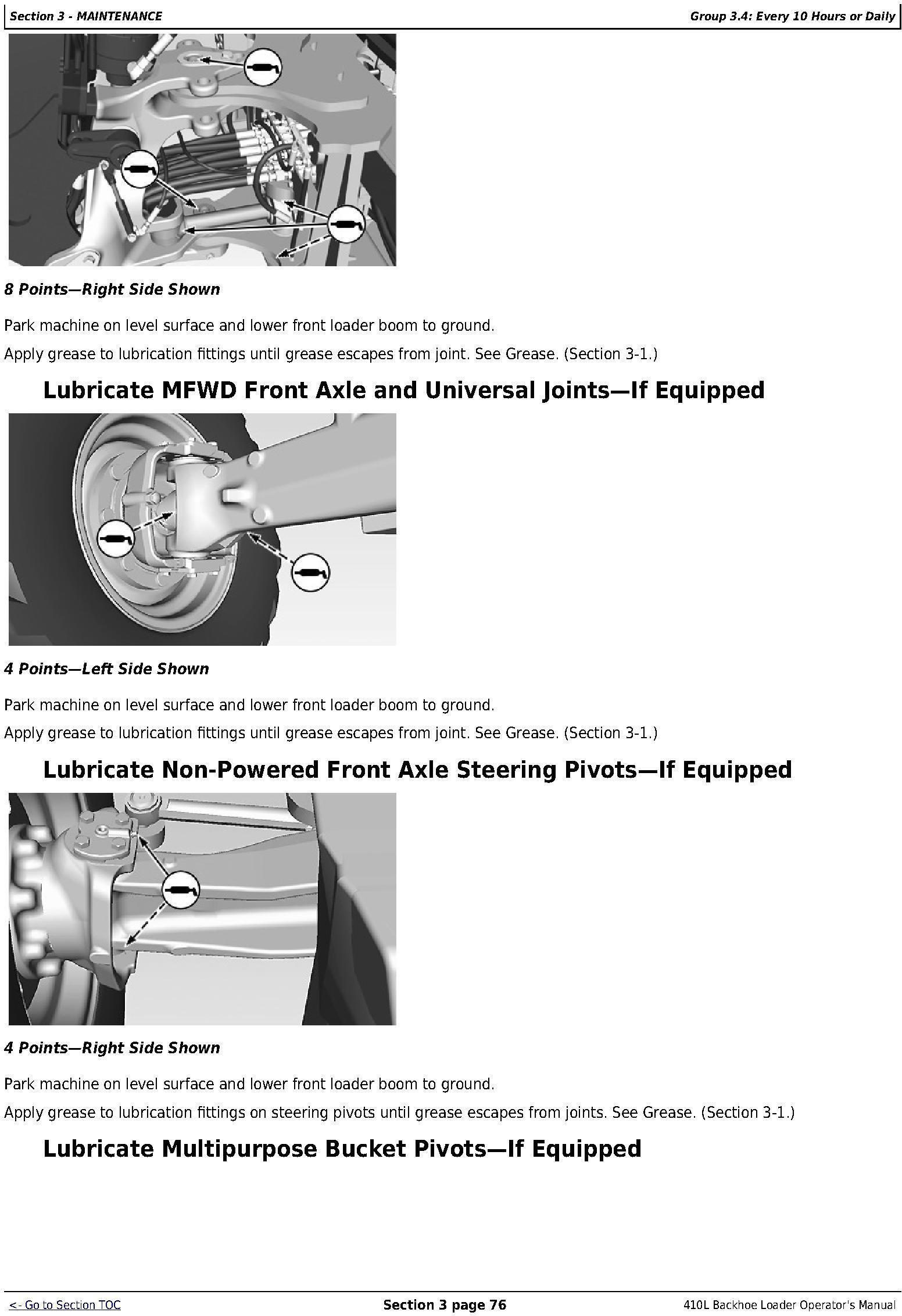 OMT357556X19 - JD John Deere 410L Backhoe Loader Operators Manual (sn. C273920-; D273920-) - 3