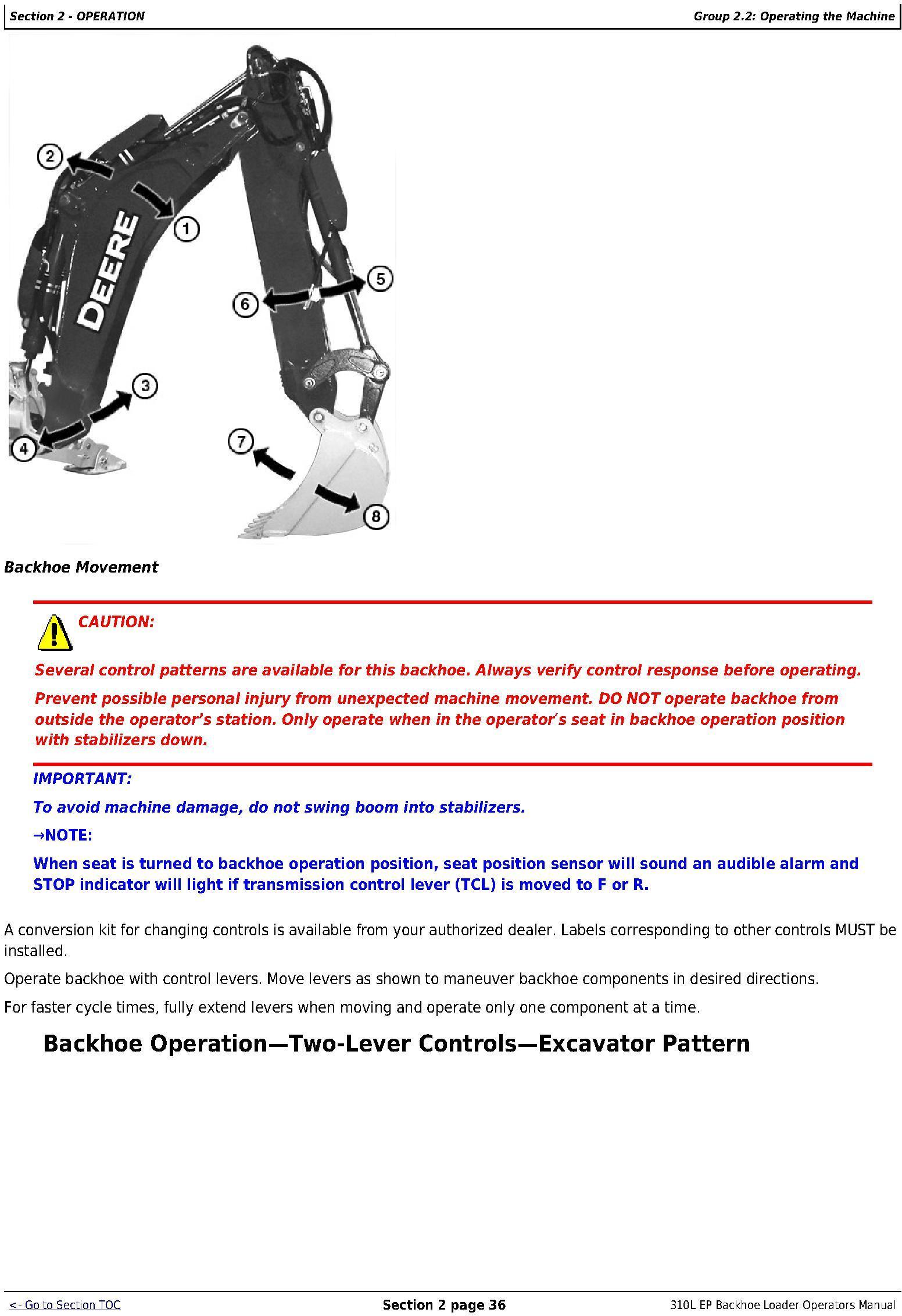 OMT357606X19 - John Deere 310SL Backhoe Loader (PIN:1T0310SL**F273920-) Diagnostic&Test Service Manual (TM13297X19) - 3