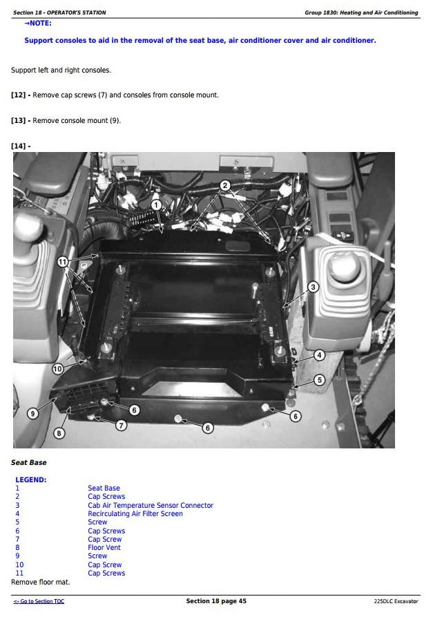 TM10085 - John Deere 225DLC Excavator Service Repair Technical Manual - 2