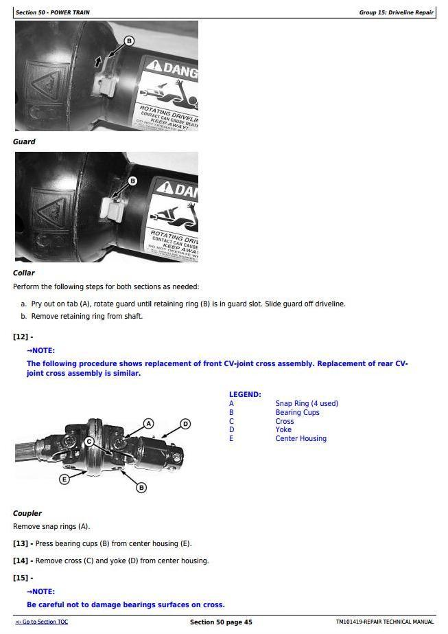 TM101419 - John Deere 625, 630, 635, 830 and 835 Mower-Conditioners Service Repair Technical Manual - 2