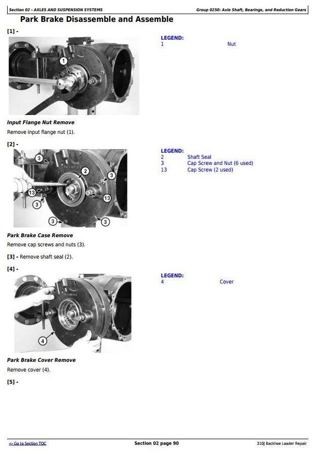 TM10145 - John Deere 310J Backhoe Loader (SN. before 159759) Service Repair Technical Manual - 1