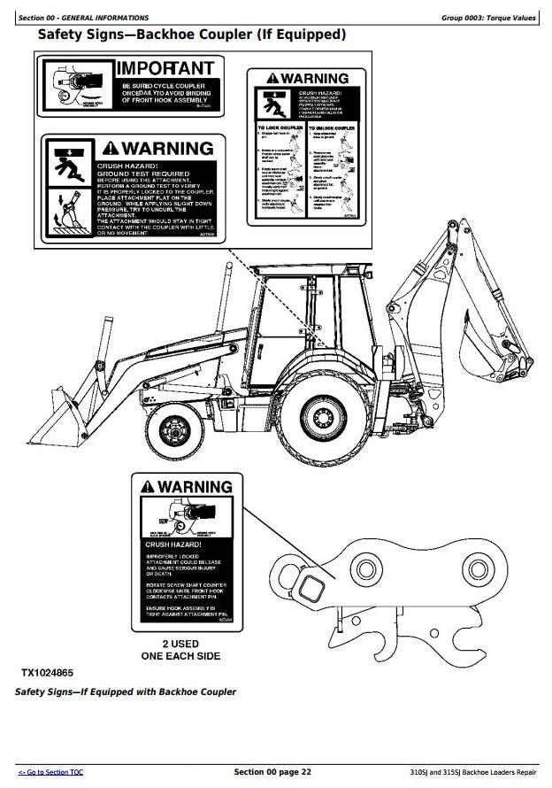 TM10146 - John Deere 310SJ (SN.-159759), 315SJ(SN.-BE315SJ300868) Backhoe Loader Service Repair Manual - 1