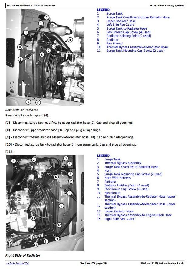 TM10146 - John Deere 310SJ (SN.-159759), 315SJ(SN.-BE315SJ300868) Backhoe Loader Service Repair Manual - 2