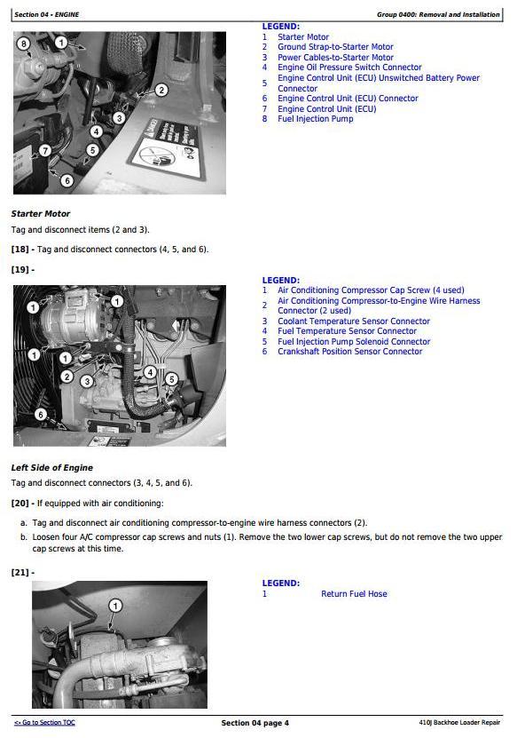TM10147 - John Deere 410J Backhoe Loader (SN. before 161616) Service Repair Technical Manual - 2