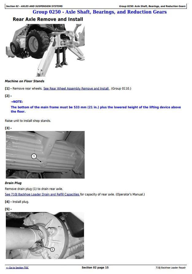 TM10148 - John Deere 710J Backhoe Loader (S.N. before 159769) Service Repair Workshop Manual - 1