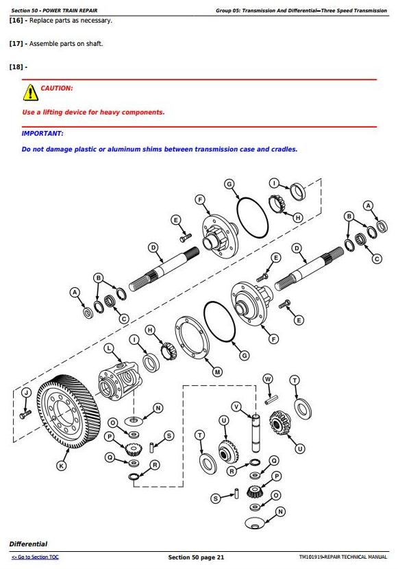 TM101919 - John Deere 9570 STS, 9670 STS, 9770 STS and 9870 STS Combines Service Repair Manual - 2