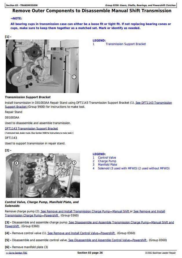 TM10226 - John Deere 315SG Side Shift Loader (S.N. BE315SG200039-) Service Repair Technical Manual - 1