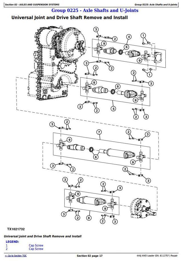 TM10243 - John Deere 444J (SN.from 611275) 4WD Loader Service Repair Technical Manual - 1