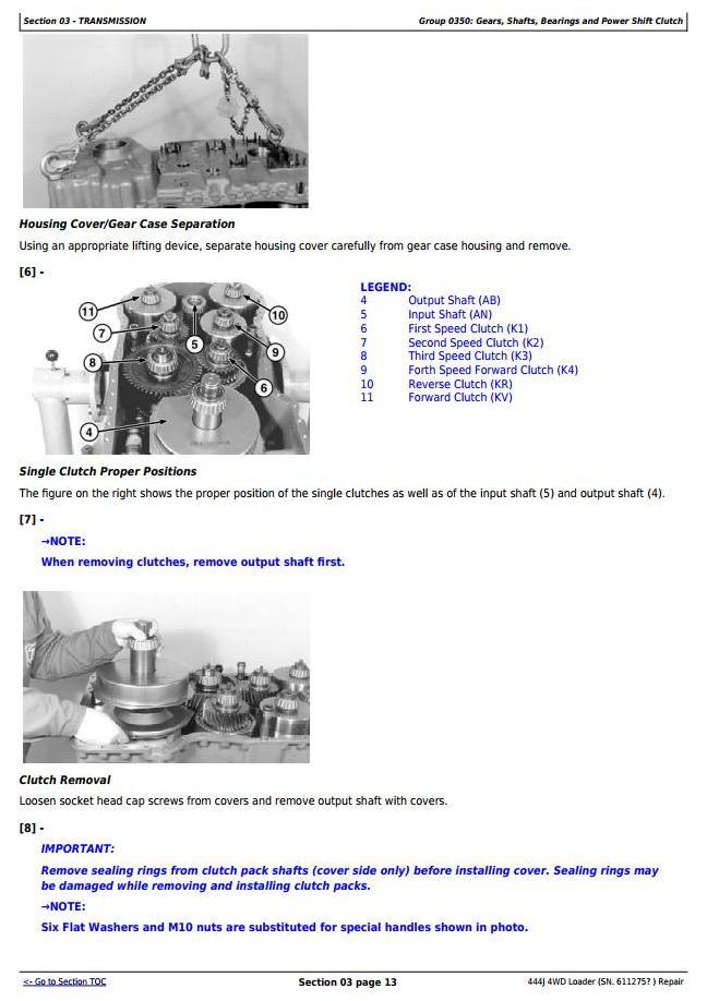 TM10243 - John Deere 444J (SN.from 611275) 4WD Loader Service Repair Technical Manual - 2