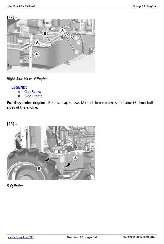 TM102619 - John Deere 5065M, 5075M, 5085M, 5095M, 5105M, 5105ML & 5095MH Tractors Repair Service Manual - 2
