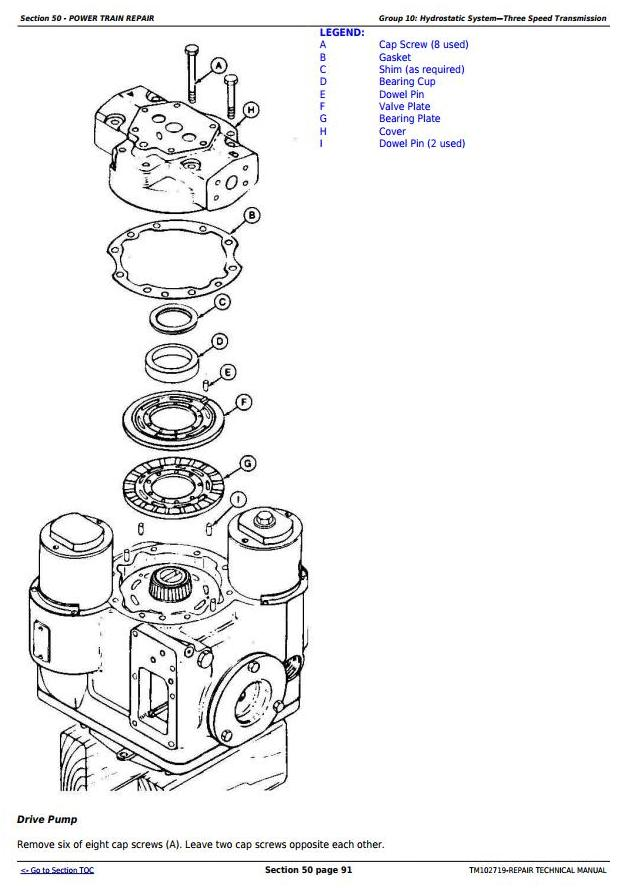 TM102719 - John Deere S560 STS, S690 STS and S690 HILLMASTER STS Combines Repair Technical Manual - 2
