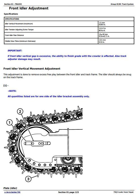 TM10295 - John Deere 750J Crawler Dozer (S.N. 141344-219962) Service Repair Technical Manual - 1