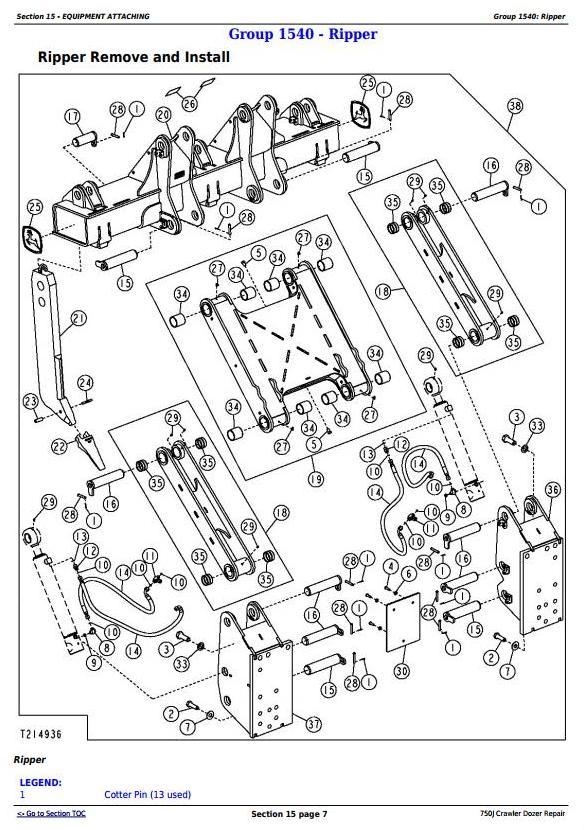 TM10295 - John Deere 750J Crawler Dozer (S.N. 141344-219962) Service Repair Technical Manual - 2