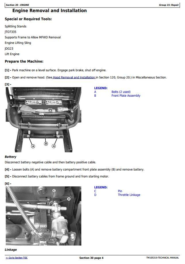 TM105319 - John Deere 4120, 4320 Compact Utility Tractors With Cab (SN. 610001-) Technical Service Manual - 1