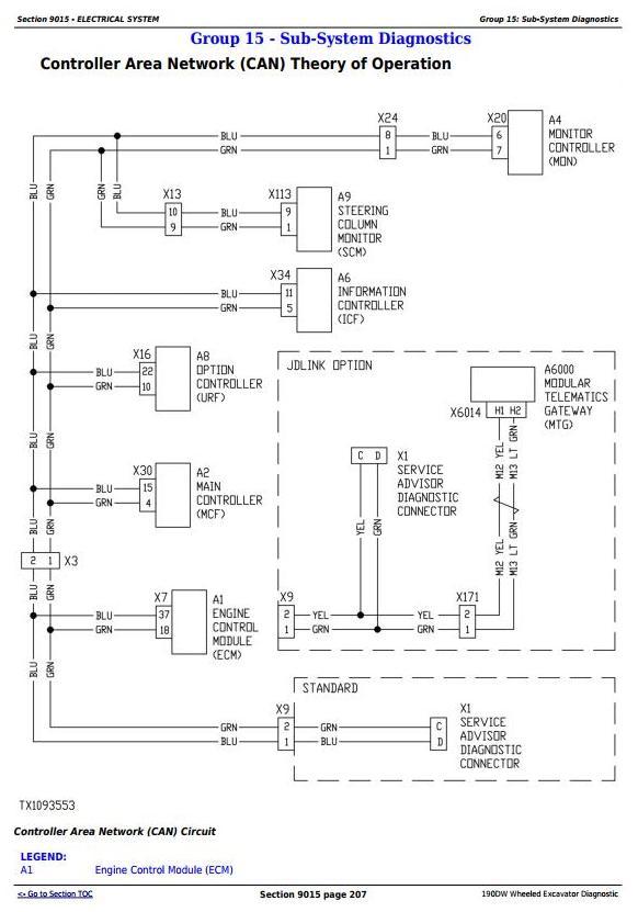 TM10542 - John Deere 190DW Wheeled Excavator Diagnostic, Operation and Test Manual - 1
