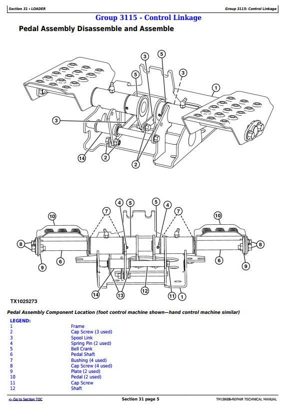 TM10608 - John Deere 313 and 315 Skid Steer Loader; CT315 Compact Track Loader Service Repair Manual - 1