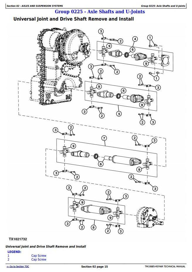 TM10685 - John Deere 444K w.Engine 4045HDW54 (T3) 4WD Loader (SN.before 642100) Service Repair Manual - 1
