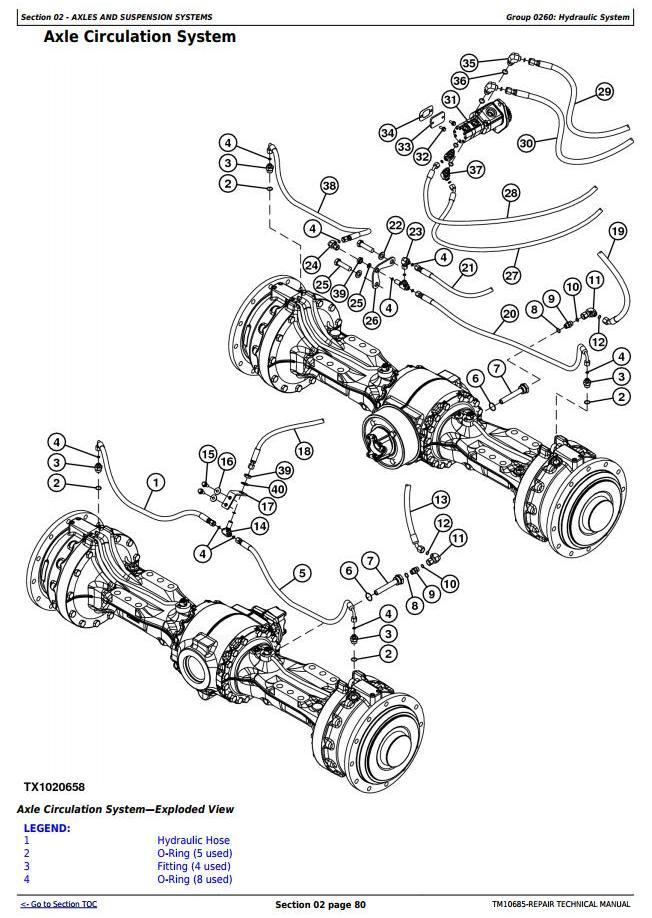 TM10685 - John Deere 444K w.Engine 4045HDW54 (T3) 4WD Loader (SN.before 642100) Service Repair Manual - 2