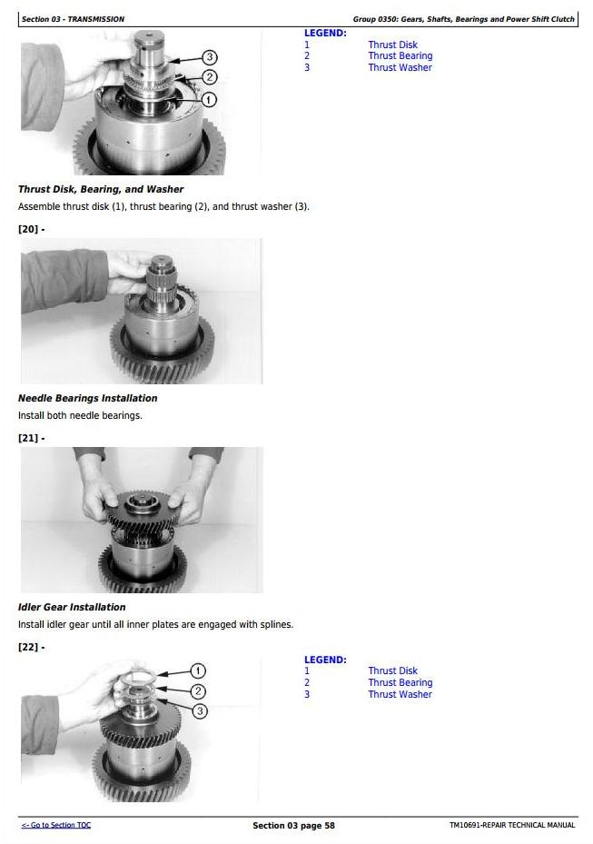 TM10691 - John Deere 624K 4WD Loader (SN.-642634) w.Engines 6068HDW79, 6068HDW83 Service Repair Manual - 2