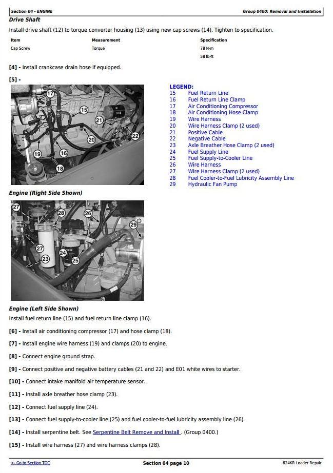 TM10693 - John Deere 624KR 4WD Loader Service Repair Technical Manual - 1
