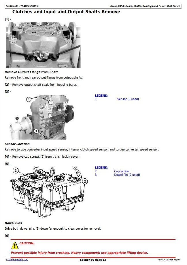 TM10693 - John Deere 624KR 4WD Loader Service Repair Technical Manual - 3