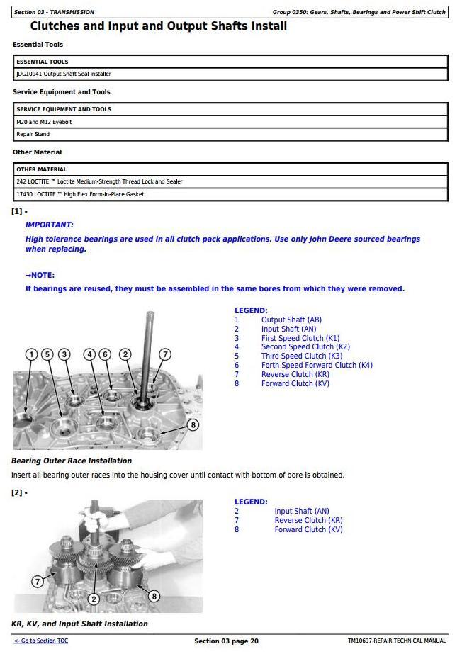 TM10697 - John Deere 724K 4WD Loader (SN.-641522) w.Engines 6090HDW03, 6090HDW09 Service Repair Manual - 2